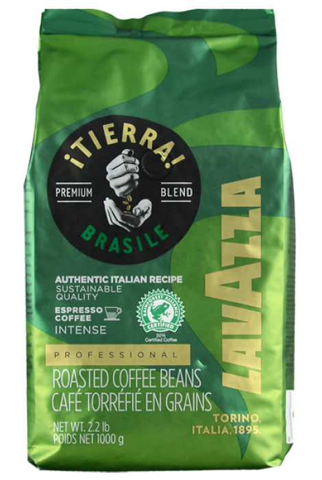 Lavazza Tierra Brazil Blend Intense Espresso 1kg ziarnista