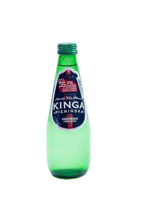 Woda Kinga Pienińska Gazowana 330 ml Szkło