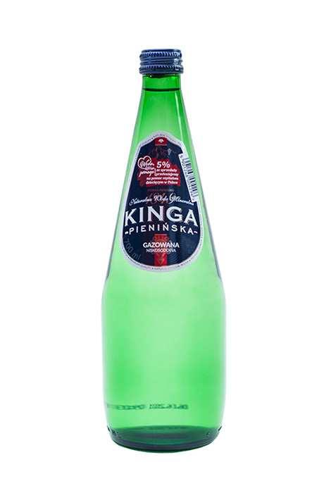 Woda Mineralna Kinga Pienińska W Szkle Gazowana 700 ml