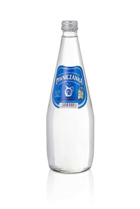 Woda Piwniczanka Wysokonasycona CO2 Wysokozmineralizowana 700 ml w szklanej butelce